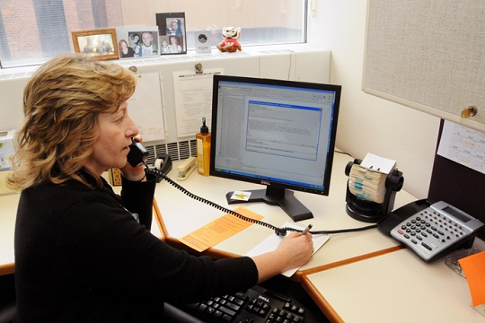 C-TraC Nurse on Phone with Patient