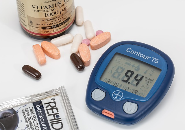 Blood sugar monitor and pills