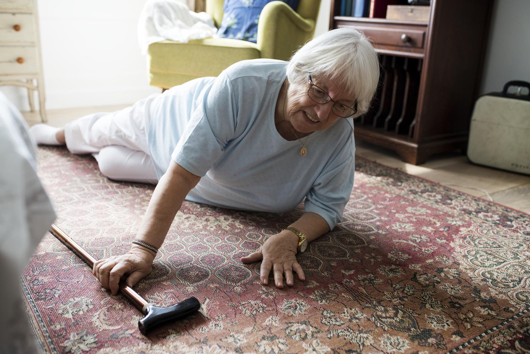 Elderly woman fall
