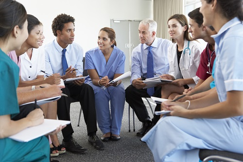 Doctors in meeting room