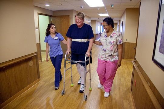 Older man walking