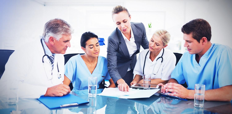 Group of doctors  meeting